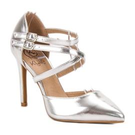 Kylie Lesklé módní knoflíky šedá 3