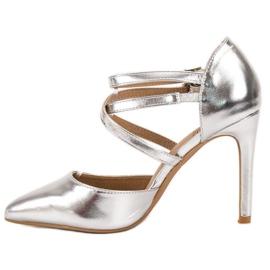 Kylie Lesklé módní knoflíky šedá 4