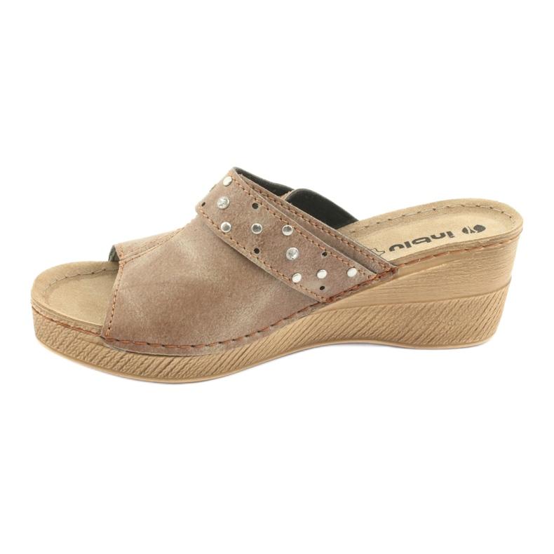 Hnědý Dámské pantofle Inblu OS007 obrázek 2