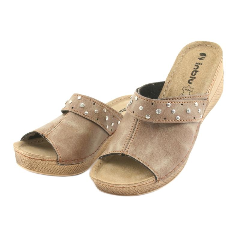 Hnědý Dámské pantofle Inblu OS007 obrázek 3