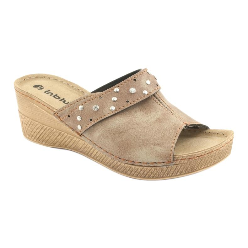 Hnědý Dámské pantofle Inblu OS007 obrázek 1