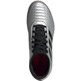 Kopačky adidas Predator 19.3 Fg Jr G25795 stříbro šedá / stříbrná 2