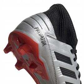 Kopačky adidas Predator 19.3 Fg Jr G25795 stříbro šedá / stříbrná 4