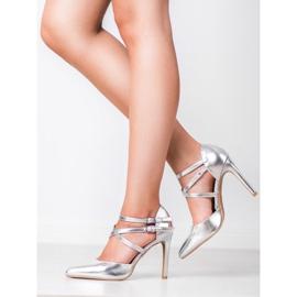 Kylie Lesklé módní knoflíky šedá 7