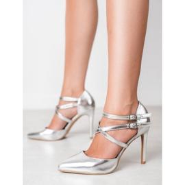 Kylie Lesklé módní knoflíky šedá 2