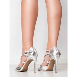 Kylie Lesklé módní knoflíky šedá 6