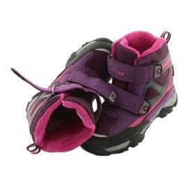 Boty na suchý zip MtTrek s membránou 18-501-011 nachový růžový šedá 5