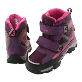 Boty na suchý zip MtTrek s membránou 18-501-011 nachový růžový šedá 3