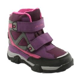 Boty na suchý zip MtTrek s membránou 18-501-011 nachový růžový šedá 1