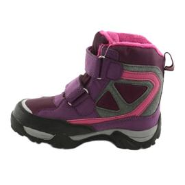 Boty na suchý zip MtTrek s membránou 18-501-011 nachový růžový šedá 2