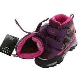 Boty na suchý zip MtTrek s membránou 18-501-011 nachový růžový šedá 4
