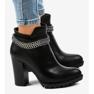 Černá Černé boty na sloupku s řetízkem 13X992-51A obrázek 2