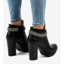 Černá Černé boty na sloupku s řetízkem 13X992-51A obrázek 3