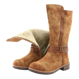 American Club GC31 dlouhé boty s tryskami hnědý 5