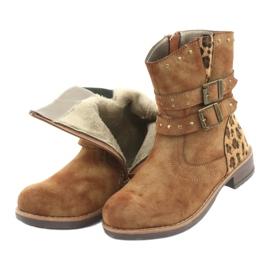 American Club Leopardské boty americké hnědé trysky hnědý 5