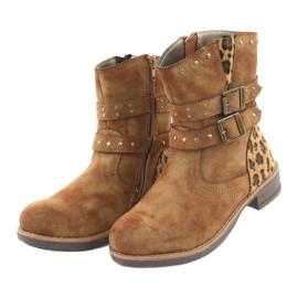 American Club Leopardské boty americké hnědé trysky hnědý 3