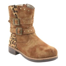 American Club Leopardské boty americké hnědé trysky hnědý 1