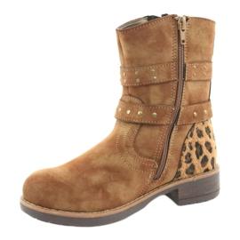 American Club Leopardské boty americké hnědé trysky hnědý 2