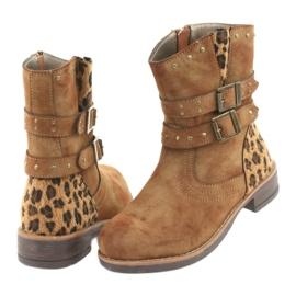 American Club Leopardské boty americké hnědé trysky hnědý 4