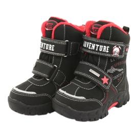 American Club Americké boty s membránovou černou RL35 černá červená 4