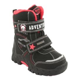 American Club Americké boty s membránovou černou RL35 černá červená 1