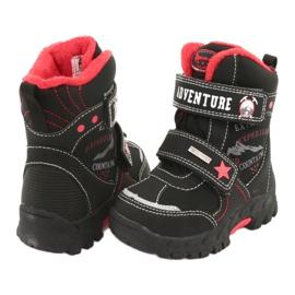 American Club Americké boty s membránovou černou RL35 černá červená 3