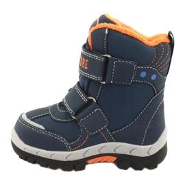 American Club Americké boty na boty s RL35 tmavě modrou válečné loďstvo oranžový 2