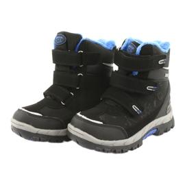 Černé boty Softshell s membránou American Club HL20 černá modrý 3