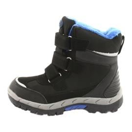 Černé boty Softshell s membránou American Club HL20 černá modrý 2