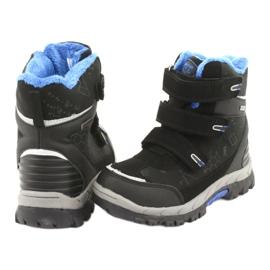 Černé boty Softshell s membránou American Club HL20 černá modrý 4