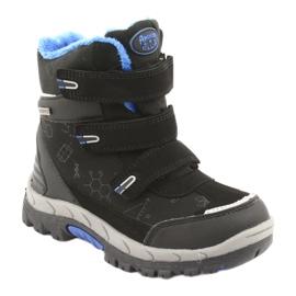 Černé boty Softshell s membránou American Club HL20 černá modrý 1