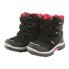 Černé boty Softshell s membránou American Club HL20 černá červená 3