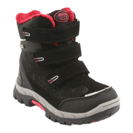 Černé boty Softshell s membránou American Club HL20 černá červená 1