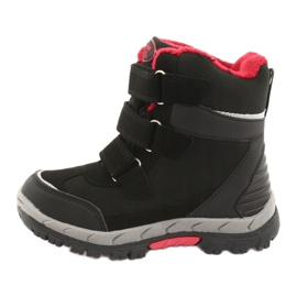 Černé boty Softshell s membránou American Club HL20 černá červená 2