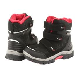Černé boty Softshell s membránou American Club HL20 černá červená 4