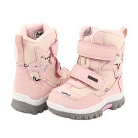 Boty American Club s membránou RL37 star pink růžový 4