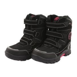 American Club Americké černé boty HL23 s membránou černá červená 3