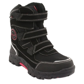 American Club Americké černé boty HL23 s membránou černá červená 1