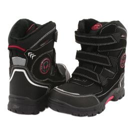 American Club Americké černé boty HL23 s membránou černá červená 4