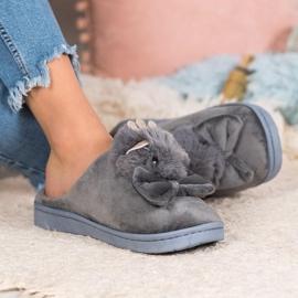 SHELOVET Pantofle S Lukem šedá 2