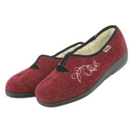 Befado dámské boty pu 940D355 červená 4