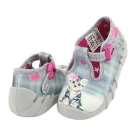Dětská obuv Befado Kitty 110P365 šedá 3