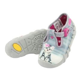 Dětská obuv Befado Kitty 110P365 šedá 4