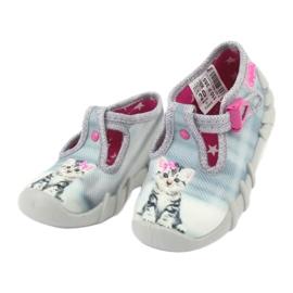 Dětská obuv Befado Kitty 110P365 šedá 2