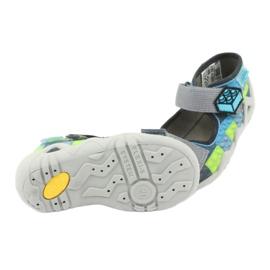 Dětské sandály Befado 250P093 modrý šedá zelená 5