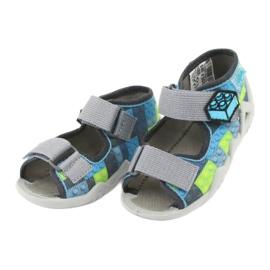 Dětské sandály Befado 250P093 modrý šedá zelená 3