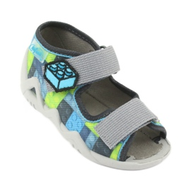 Dětské sandály Befado 250P093 modrý šedá zelená 1