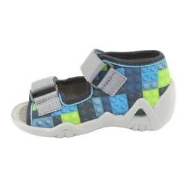 Dětské sandály Befado 250P093 modrý šedá zelená 2