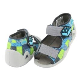 Dětské sandály Befado 250P093 modrý šedá zelená 4
