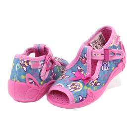 Befado růžová dětská obuv 213P113 modrý růžový 4